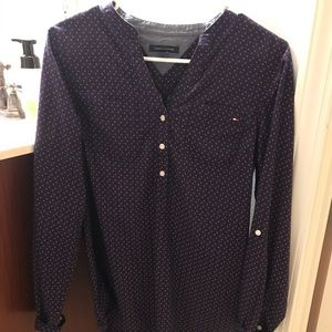 Tommy Hilfiger polka dot blouse